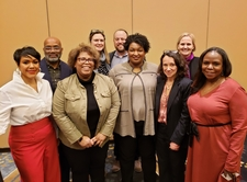 Lenna Nepomnyaschy with Stacey Abrams, Tiffany Cross, and the SSWR Policy Committee